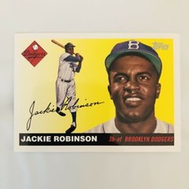 Jackie Robinson Baseball Card Topps 2004 Reprint of Brooklyn Dodgers Pla... - $8.79