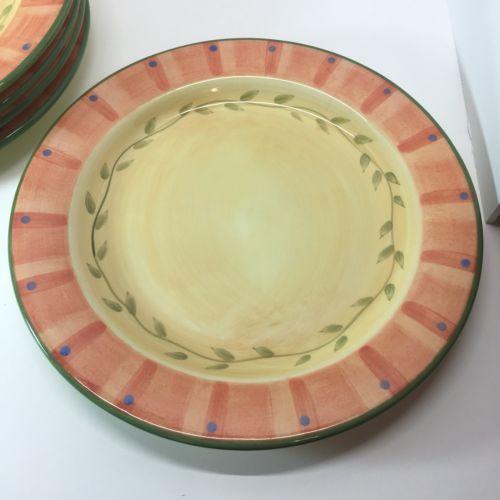 PFALTZGRAFF NAPOLI PATTERN SET OF 5 DINNER PLATES 11 3/4\  WIDE HAND PAINTED & Pfaltzgraff Napoli Pattern Set Of 5 Dinner and 50 similar items