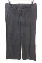 W13169 Womens GAP Black Pinstripe Stretch Wide Leg SLACKS Dress PANTS sz 8 - $17.35