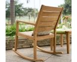 Teak wooden rocking chair indoor outdoor thumb155 crop