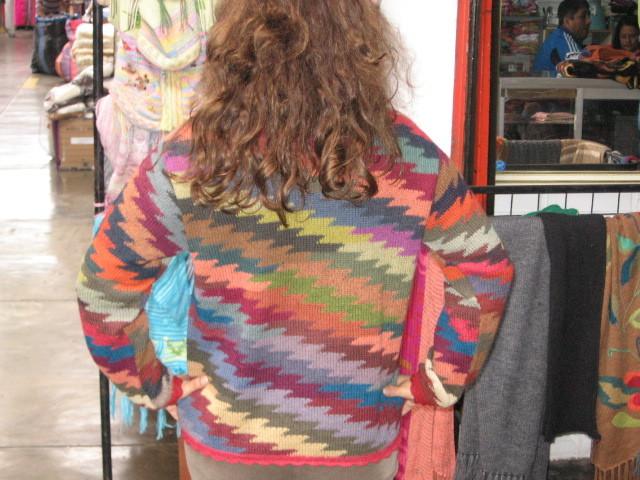 Colorful Cardigan, jacket, Sweater,  Alpacawool