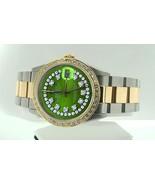 Diamond dial & bezel Rolex datejust watch two t... - $4,504.50