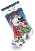 Craft Dimensions Needlecrafts Counted Cross Stitch Santa Snowman Stockin... - $22.32