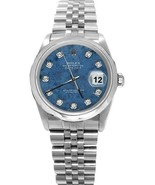 Rolex datejust watch SS jubilee bracelet blue d... - $7,078.50