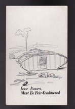 Four Hours Must Be HEIR-CONDITIONED Vintage Artists Signed Postcard Zito - $3.36