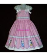 NEW Handmade Disney Princess Cinderella Belle Border Sun Dress Custom  1... - $59.98