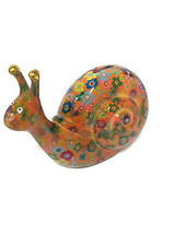 Pomme-pidon Speedy The Snail Orange Piggy Bank - $26.18