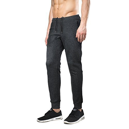 Indigo people Men's Limited Edition Slim Fit Jogger Sweat Pants (XL, Charcoal)