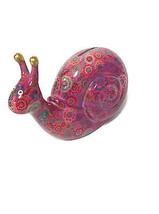 Pomme-pidon Speedy The Snail Pink Piggy Bank - $26.18