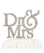 Dr. & Mrs. Wedding Cake Topper - Doctor Mrs Gold Rhinestone Monogram Decor - $24.95
