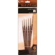 LoewCornell 1024925 Studio Elements Golden Taklon Short Handle Round Brush - $16.71