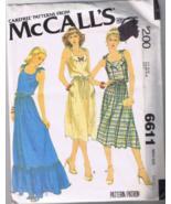 McCalls 6611 Misses Sundress - Size S (10-12) -... - $5.00