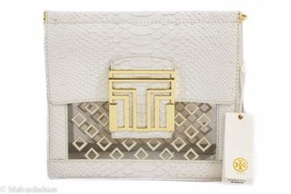 TORY BURCH Var Clutch, Clear/Cream - $149.00