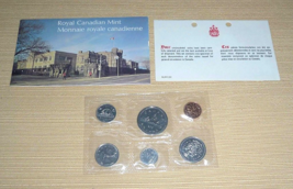 1977 Royal Canadian Mint Set - 6 Uncirculated Coins w/ Spec Sheet & Enve... - $16.00