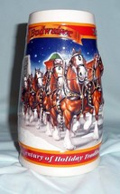 Budweiser Holiday Stein - 1999 A Century of Tradition, CS389 - 20th Anni... - $26.00