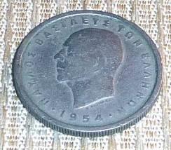 Greece - 2 Drachmai Coin Dated 1954 - $6.50