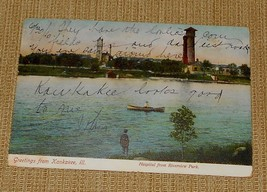 Greetings from Kankakee, Ill., Hospital from Riverview Park - Posted in ... - $13.00