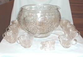 Indiana Glass Crystal Happenings 18 Pc Punch Set w/Box - $65.00