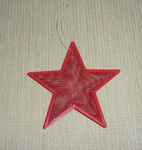 Red Metal Mesh Star Ornament - 5 Point Star, 4.5 Inches - $15.00