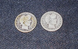 Two Barber Quarters - 1915 and 1915-D - $30.00