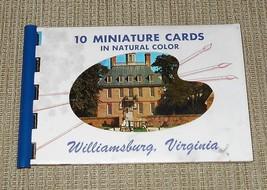 Williamsburg VA Souvenir Spiral Booklet with 10 Miniature Photo View Postcards - $8.00
