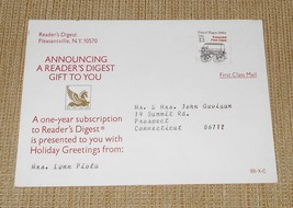 Reader's Digest Gift Postcard w/13c Presorted 1st Class Coil Stamp Not C... - $12.00