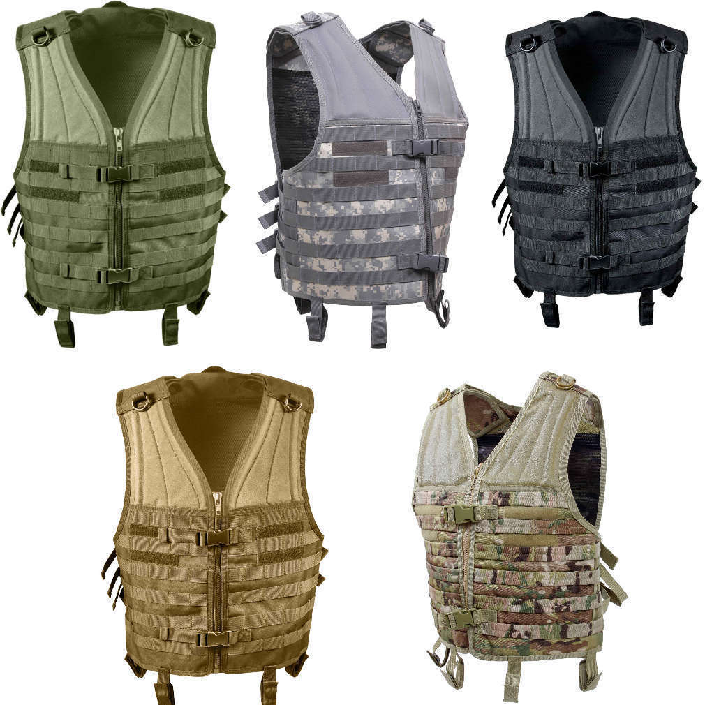 Black Olive Drab ACU Digital Camo Coyote Brown Tan MultiCam MOLLE Modular Vest