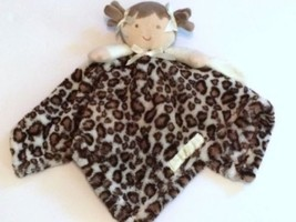 Blankets & Beyond Leopard Lovey Security Plush Girl Brunette Brown Ivory... - $15.99 CAD