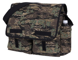Smokey Branch Forest Camo Unwashed Canvas Shoulder Messenger Student Sch... - $27.71