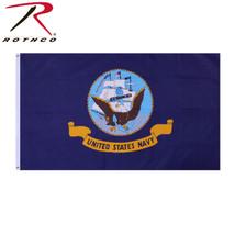 USN US Navy Naval Fleet Seal 3'x5' Veteran Blue Military Flag Banner - $9.89