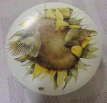 "Marjolein Bastin Tin sunflower birds 5"" - $11.50"