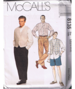 McCalls 8135 Men's Shirt, Vest, Pants, Shorts -... - $5.00