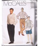 McCalls 8135 Men's Shirt, Vest, Pants, Shorts -... - $5.00