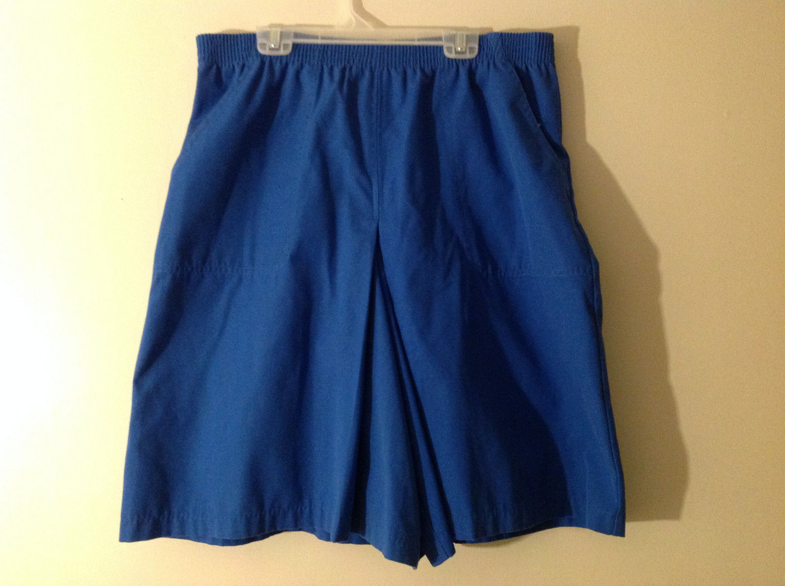 Francisca by Keret Women's Size 10 Flowy Shorts Cobalt Blue Elastic Waist Band