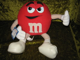"""M&M Plush Character Doll Red 12"""" 2001  - $16.95"""