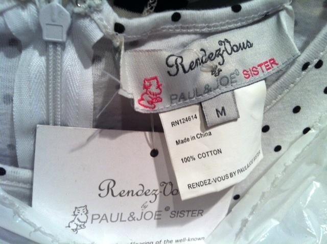 PAUL & JOE Sister Urban Outfitters cute POLKA DOT DRESS NWT medium sold out RARE