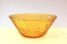 VTG Large Amber Gold Anchor Hocking Fire King SORENO Salad Fruit Serving... - $18.80