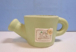 Ceramic flower pot watering can design  cute new - $18.94