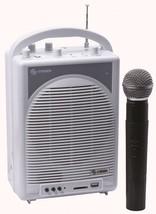 Steren 50 Watt Portable Amplifier USB SD Card Reader VHF Wireless Microp... - $98.99