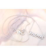 """Solid 925 Sterling Silver """"Mom"""" Pendant with Real Diamonds! - $24.00"""