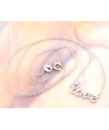 """Solid 925 Sterling Silver """"Love"""" Pendant with Real Diamonds! - $24.00"""