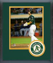 Jake Smolinski 2016 Oakland A's Action - 11 x 14 Team Logo Matted/Framed Photo - $42.95