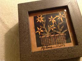 Basket of flowers  scherenschnitte German style paper cutting trinket box