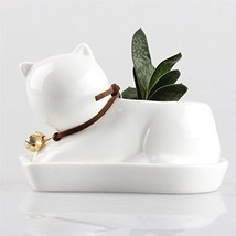 Small Plant Window Cat Sculpture Planter. Garden Plant Flower Dish Bowl ... - $25.90