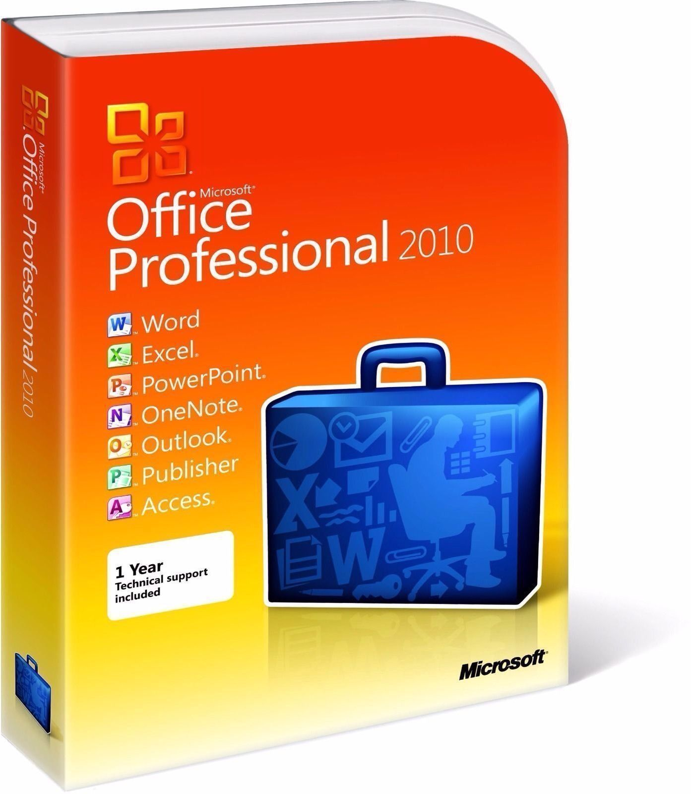 Microsoft Office Professional 2010 New & Sealed, for PC Windows XP, 7, 8, or 10