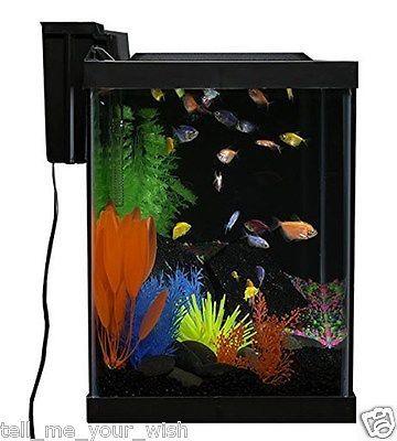 Aquarium kit 20 gallon glo fish fluorescent d cor create a for 20 gallon fish tank decoration ideas