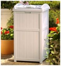 Suncast GH1732 Outdoor Trash Hideaway h3163 l1575 w1600 w15 Rectangular ... - $79.23