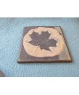 Vintage Ceramic Trivet With Leaf - $4.99
