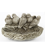Bird Nest Feeder Concrete Wall Plaque  - $62.00