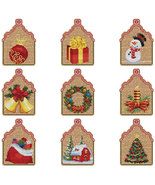 FULL BUNDLE Christmas Ornament Kits (9 total) cross stitch Colonial Needle  - $89.10
